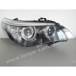 BMW E60 LIFT PRAWA LAMPA BI-XENON NIESKRĘTNY PRZÓD Zderzaki