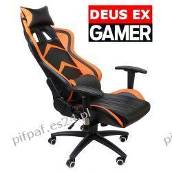 FOTEL Gamingowy obrotowy dla graczy Gamer DEUS EX Biuro i Reklama
