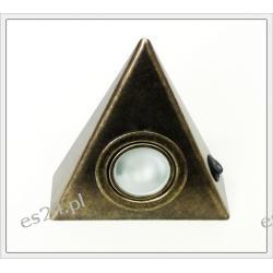 Oprawa trójkąt stare złoto z włącznikiem SKOFF