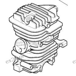 Cylinder kompletny Oleo-Mac 936, 937, GS370 ORYGINAŁ