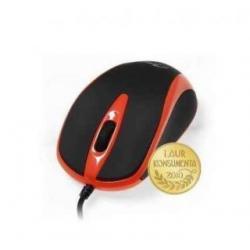 Myszka optyczna 3 przyciski + rolka USB kolor czerwony...