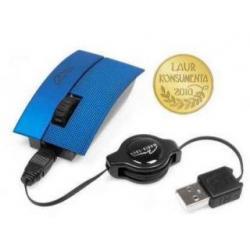 Myszka optyczna 3 przyciski + rolka zwijany kabel USB-kolor niebieski...