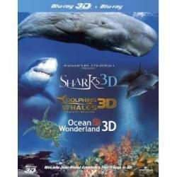 IMAX 3D/2D Blu-ray Perła Oceanów/Delfiny/Rekiny PL