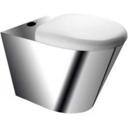 MISKA WC wisząca ze stali nierdzewnej z deską PVC...