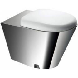 MISKA WC stojąca ze stali nierdzewnej z deską PVC...