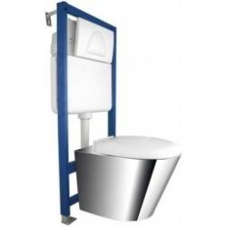 KOMPAKT WC ze stelażem ze stali nierdzewnej...