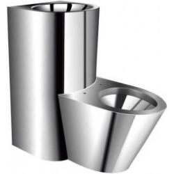Zestaw sanitarny: miska ustępowa z umywalką ze stali nierdzewnej...