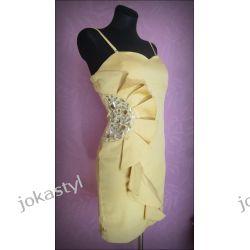 jokastyl* Ekskluzywna sukienka L 40 miodowy Sukienki mini