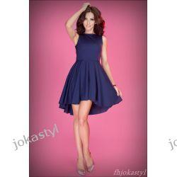 jokastyl Asymetryczna granatowa sukienka XL 42 Sukienki mini