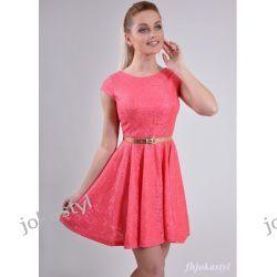 jokastyl KORAL rozkloszowana sukienka KORONKA M 38