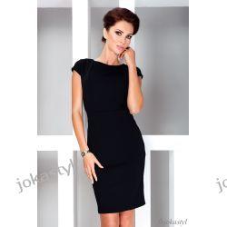 jokastyl* Elegancka czarna sukienka S 36
