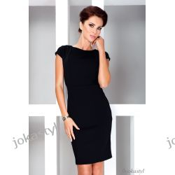 jokastyl* Elegancka czarna sukienka L 40 Sukienki mini