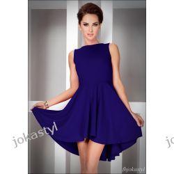 jokastyl Asymetryczna CHABROWA sukienka L 40 Sukienki mini