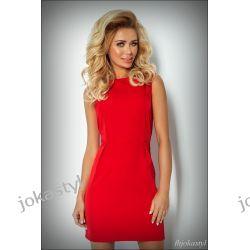 JOKASTYL Elegancka CZERWONA sukienka M 38 Sukienki mini