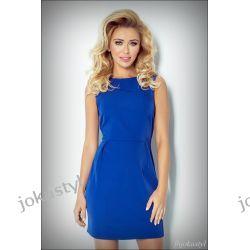 JOKASTYL Elegancka NIEBIESKA sukienka M 38 Sukienki midi