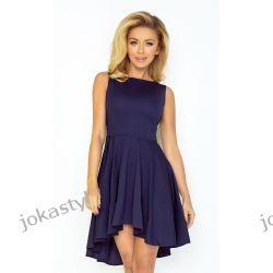 jokastyl Asymetryczna granatowa sukienka XL L M S Sukienki mini