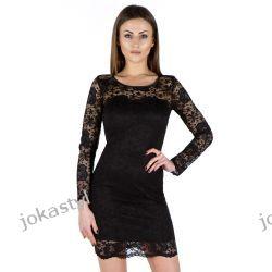 JOKASTYL Sukienka koronkowa 36 38 40 42 44 46 48 CZARNA