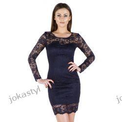 JOKASTYL Sukienka koronkowa 36 38 40 42 44 46 48 GRANATOWA