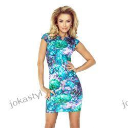 jokastyl Sukienka ołówkowa kwiatowy wzór M 38 Sukienki mini