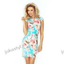 jokastyl Sukienka ołówkowa kwiatowy wzór XL 42 Sukienki maxi