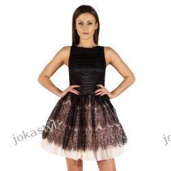 jokastyl sukienka tiulowa czarna XS 34 Sukienki mini