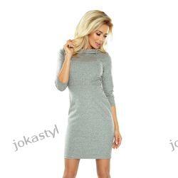 jokastyl elegancka sukienka w dwóch kolorach S M L XL szara Sukienki midi
