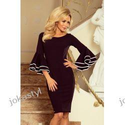 jokastyl sukienka z hiszpańskimi rękawkami CZARNA S M L XL Sukienki mini
