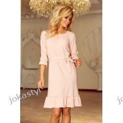 jokastyl Sukienka MAYA pastelowy róż S M L XL Sukienki mini