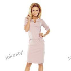 jokastyl Sportowa sukienka pastelowy róż S M L XL Sukienki mini
