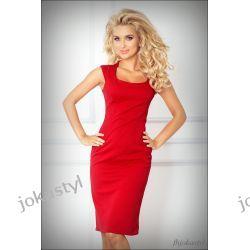 JOKASTYL OŁÓWKOWA sukienka Czerwona XL 42 Sukienki mini