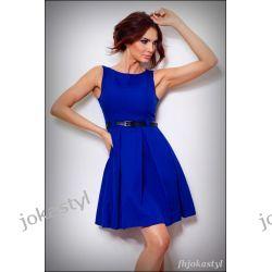 jokastyl Chabrowa rozkloszowana sukienka PASEK M 38 Sukienki mini