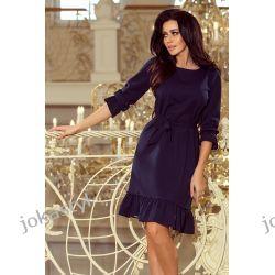 jokastyl Sukienka MAYA GRANATOWA S M L XL Sukienki mini