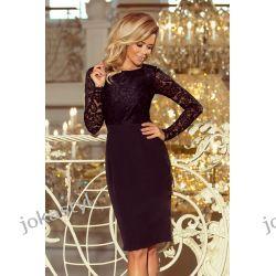 jokastyl EMMA Ołówkowa sukienka koronka czarna S M L XL Sukienki mini