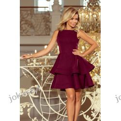 Jokastyl Bordowa sukienka CRISTINA rozkloszowana S M L XL