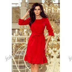 jokastyl Sukienka MAYA CZERWONA S M L XL Sukienki mini