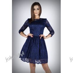 jokastyl Sukienka koronkowa rozkloszowana XS S M L XL Suknie i sukienki