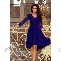 NICOLLE sukienka koronkowy dekolt CHABROWA S M L XL XXL Odzież, Obuwie, Dodatki