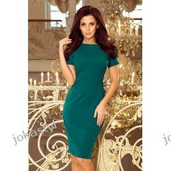 JOKASTYL Sukienka DOROTA elegancka ZIELONA XS S M L XL