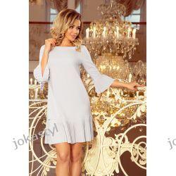 jokastyl LUCY - plisowana wygodna sukienka SZARA S M L XL XXL