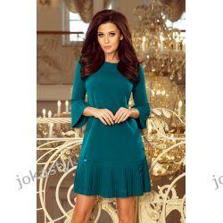 jokastyl LUCY - plisowana wygodna sukienka niebieska S M L XL XXL