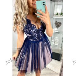 jokastyl efektowna sukienka koronka kolory XS S M L  Sukienki mini