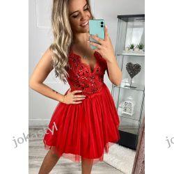jokastyl efektowna sukienka koronka kolory XS S M L