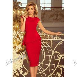 jokastyl Elegancka sukienka z baskinką S M L XL XXL KOLORY