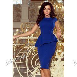 Jokastyl Chabrowa sukienka z baskinka XL 42 kolory rozmiary
