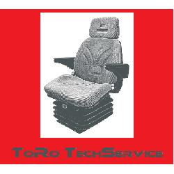 Fotel pneumatyczny uniwersalny do koparek, ładowarek, ciągników