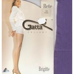 Gatta rajstopy kabaretki Brigitte 1 / 2  violet