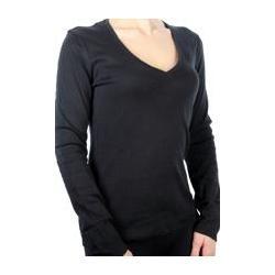 czarna  bluzka longsleeve serek Tezenis - jakość!