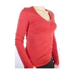czerwona bluzka longsleeve serek Tezenis - jakość!