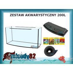 Zestaw Akwarium profilowane 200l z pokrywą + Mata