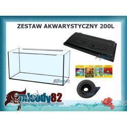 Zestaw Akwarium proste 200l z pokrywą + Mata